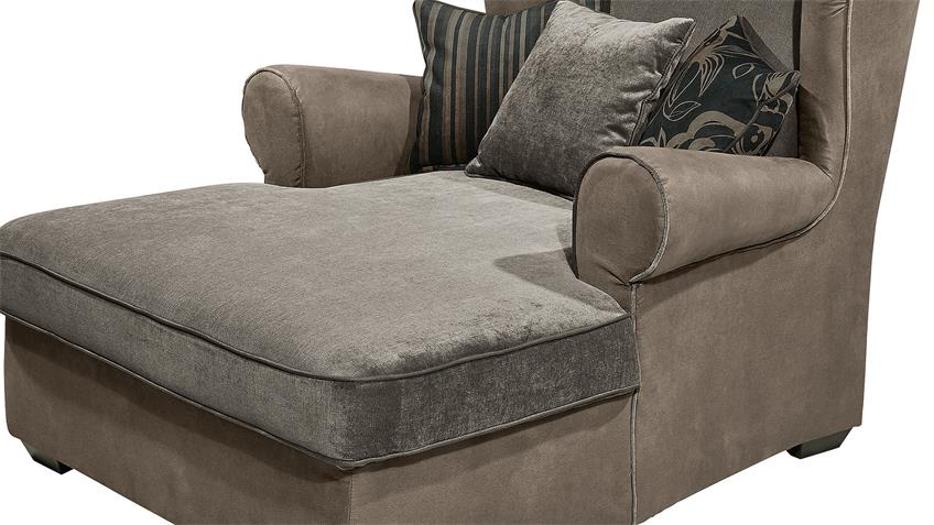 Sessel CANYON Sofa Polstermöbel in grau und schwarz braun