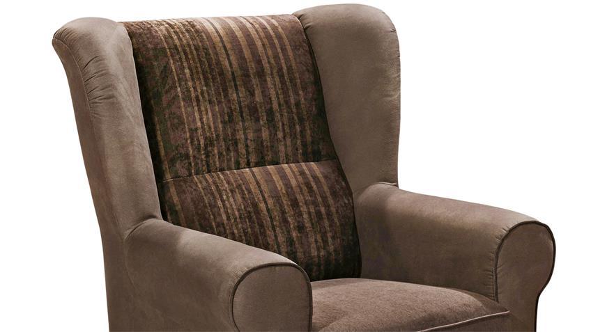 Sessel CANYON Einzelsessel Sofa Polstermöbel Kastanien braun