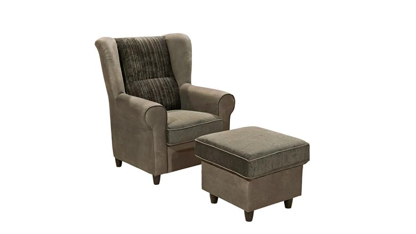 Sessel CANYON Einzelsessel Sofa in grau schwarz braun