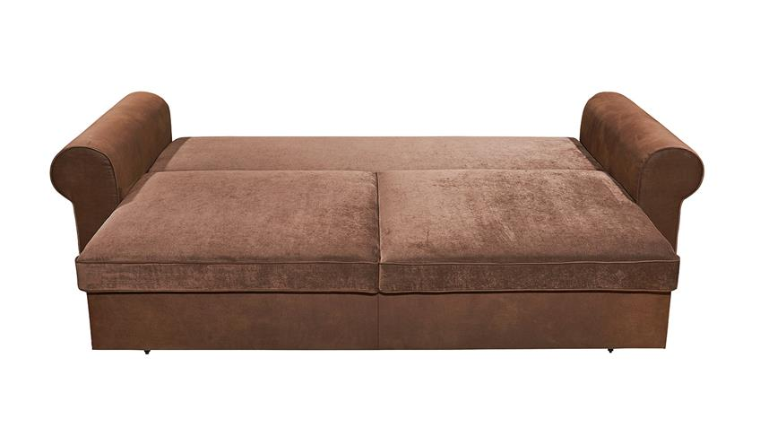 Schlafsofa CANYON Sofa Funktionssofa in Kastanien braun 253