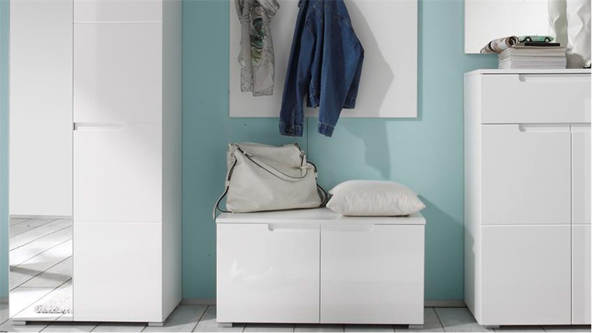 Garderoben Set SPICY 5-teilig weiß Hochglanz Dielenmöbel