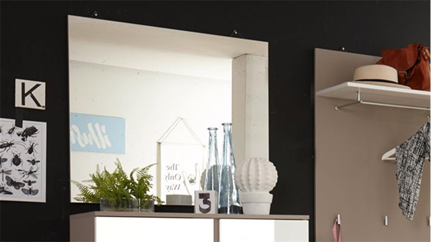 Garderobenspiegel QUESTA Wandspiegel Garderobe Flur 80x70