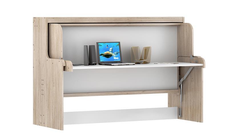 schrankbett dakotas funktionsbett 90x200cm eiche wei. Black Bedroom Furniture Sets. Home Design Ideas