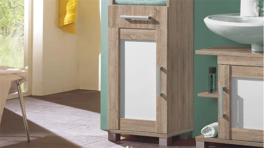 hochschrank pontos badezimmer bad sonoma wendefront wei. Black Bedroom Furniture Sets. Home Design Ideas