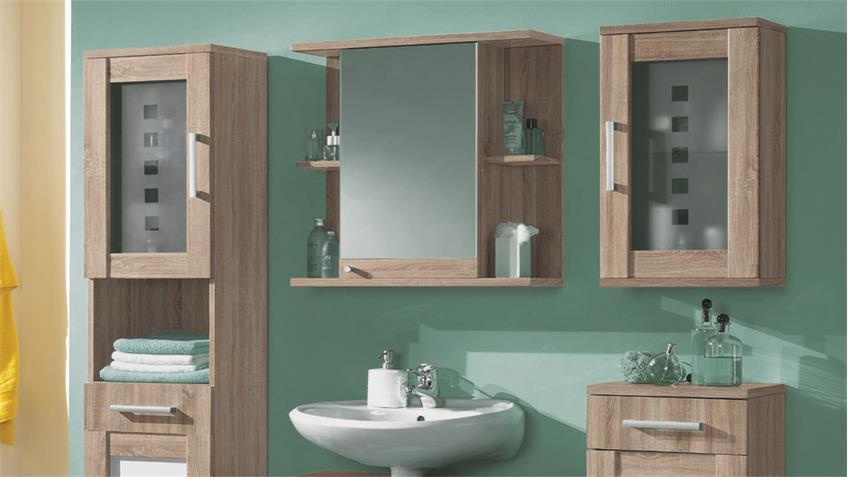 badezimmer set pontos 5 tlg schr nke sonoma wendefront. Black Bedroom Furniture Sets. Home Design Ideas