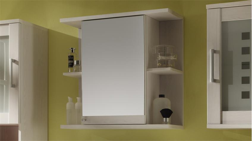 Spiegelschrank PONTOS Badezimmer Bad Schrank Spiegel Lärche