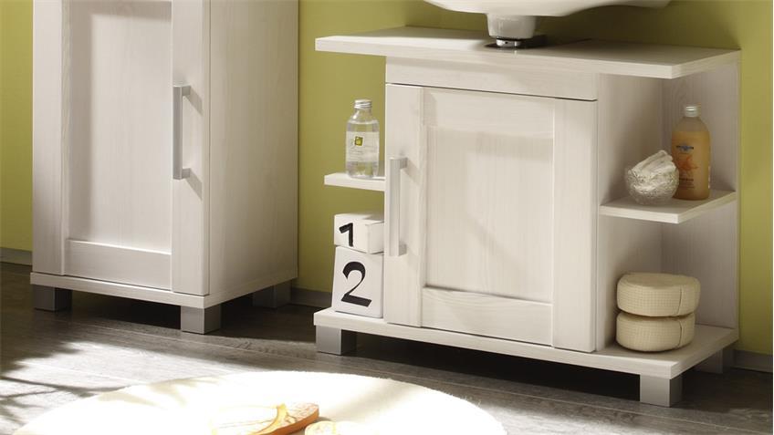 Badezimmer Set PONTOS 5-teilig Bad Schränke in Sibiu Lärche