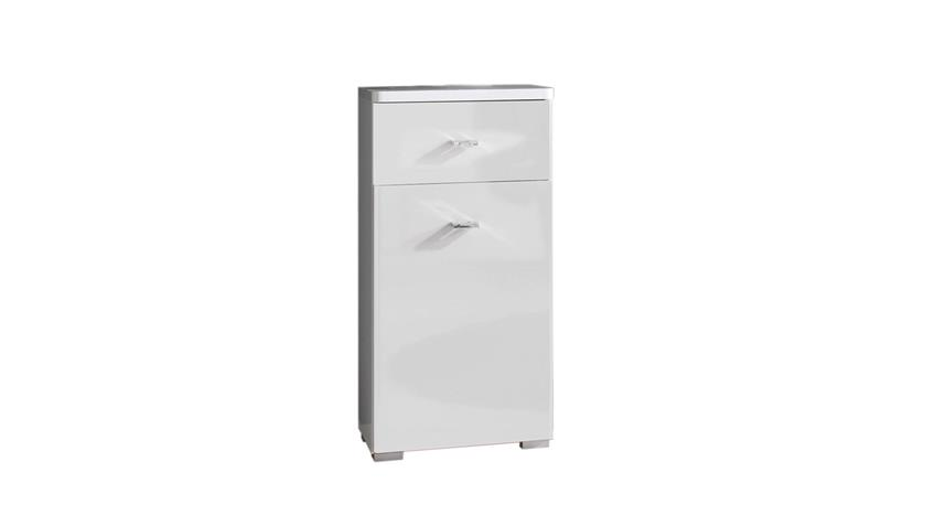 Kommode BAROLO Badezimmer 1-türig weiß Hochglanz Bad Unterschrank
