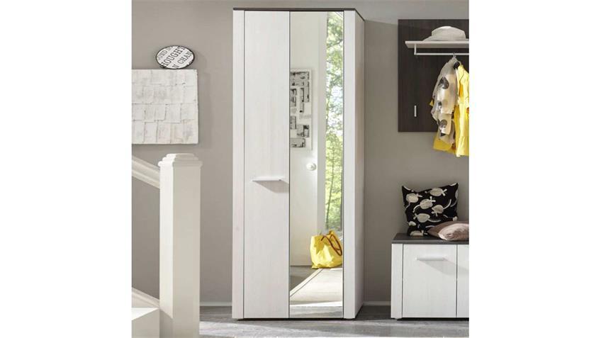 garerobenschrank dakar hochschrank in sibiu l rche mit spiegel. Black Bedroom Furniture Sets. Home Design Ideas