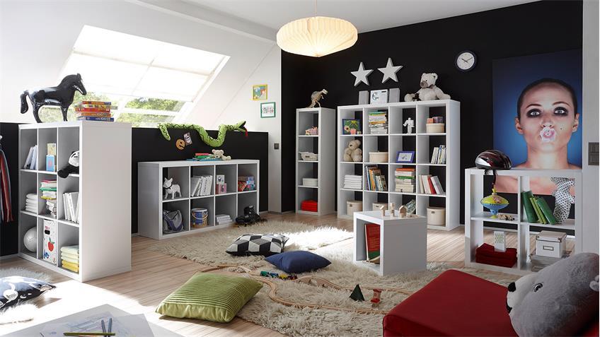 Raumteiler 3 Style weiß Dekor 3x3