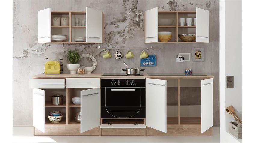 Küchenzeile Welcome X Küche Sonoma Eiche weiß matt