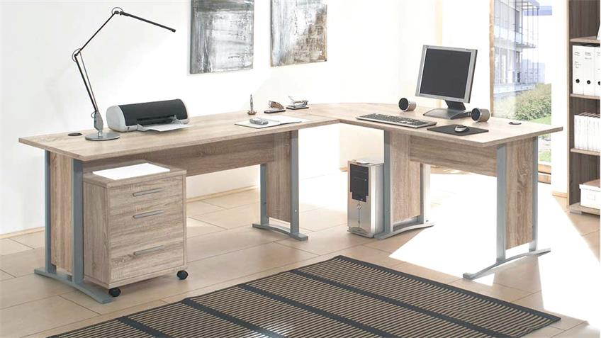 b ro office line set winkelschreibtisch rollcontainer. Black Bedroom Furniture Sets. Home Design Ideas