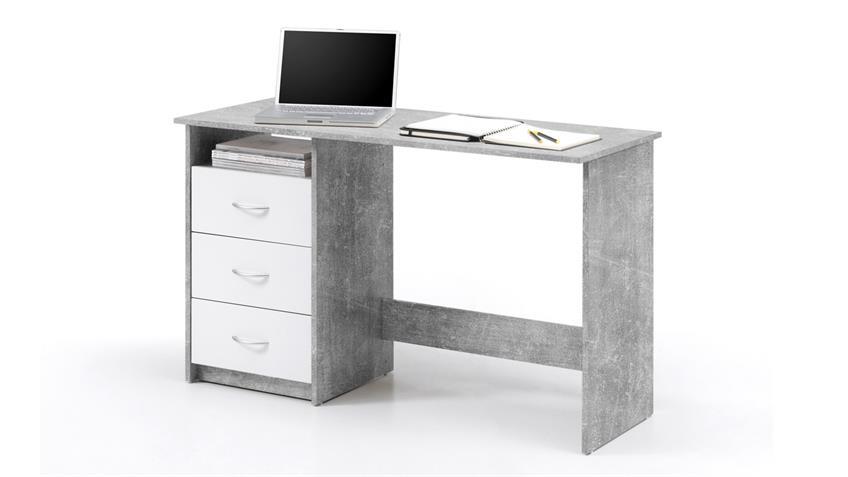 Schreibtisch Adria Betonoptik Computertisch Bürotisch