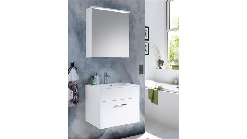 Waschbeckenunterschrank SPLASHI weiß Hochglanz inkl. Becken