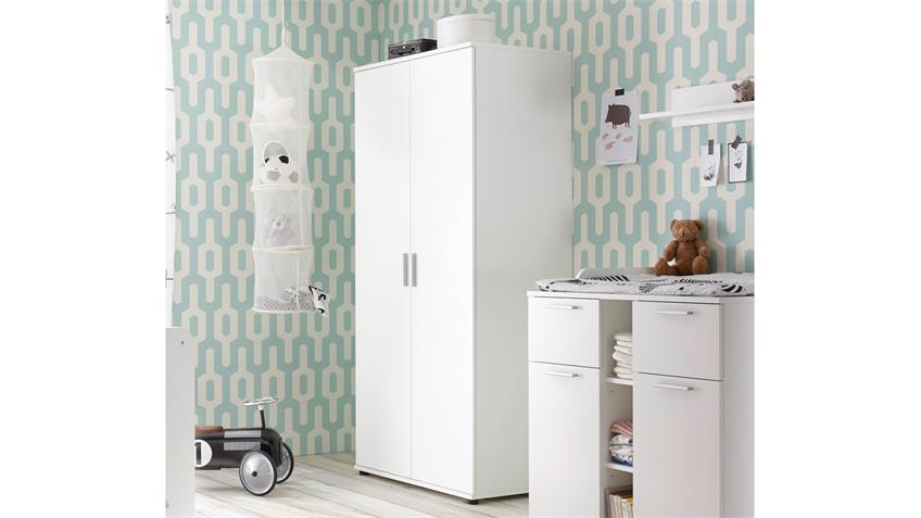 Kleiderschrank Babyzimmer Bibo Drehtürenschrank 2-türig weiß