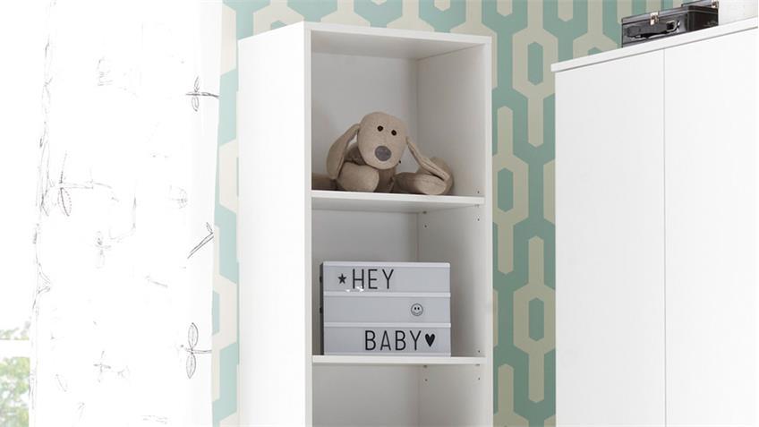 Regal Babyzimmer Bibo Standregal Bücherregal weiß 4 Fächer
