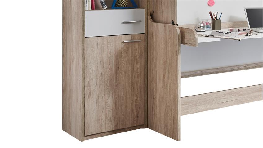 funktionsbett dakota schreibtisch bett berbau eiche san. Black Bedroom Furniture Sets. Home Design Ideas