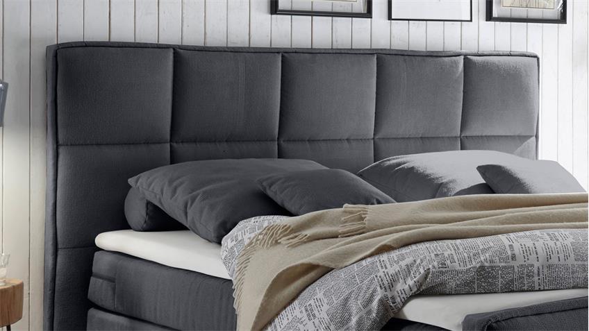 boxspringbett arvada stoff graphit 7 zonen ttfk mit bettkasten 180x200. Black Bedroom Furniture Sets. Home Design Ideas