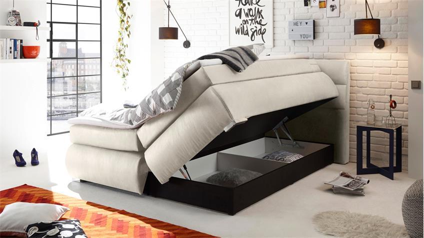boxspringbett kosali 2 stoff natur 7 zonen ttfk und federkern 180x200. Black Bedroom Furniture Sets. Home Design Ideas