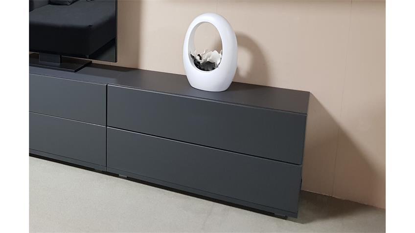Kommode Bright TV-Board in graphit 2 Schubkästen inkl. push-to-open