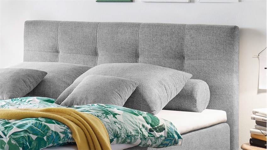 boxspringbett missouri 1 stoff grau 7 zonen ttfk und federkern 140x200. Black Bedroom Furniture Sets. Home Design Ideas