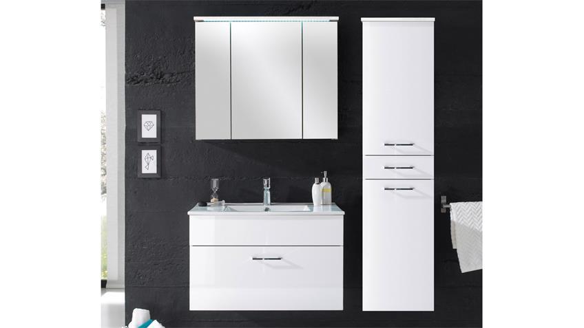 Hochschrank SPLASHI Badezimmer Bad Schrank 2-türig In Weiß