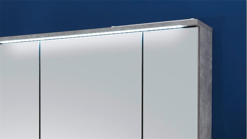 Spiegelschrank splashi bad schrank beton inkl led beleuchtung 80 cm - Spiegelschrank bad 80 cm ...
