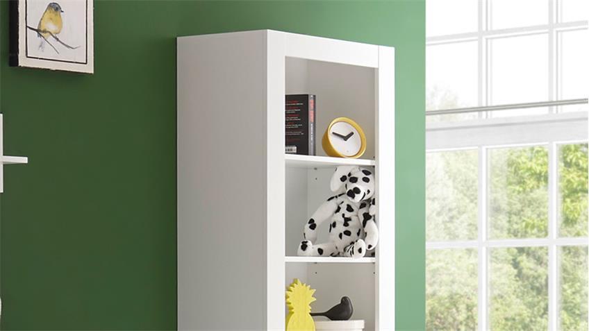 standregal paula b cherregal regal wandregal in wei mit 5 f chern. Black Bedroom Furniture Sets. Home Design Ideas