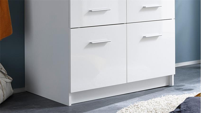 Kleiderschrank Hagen Drehtürenschrank 2-türig weiß 90 cm
