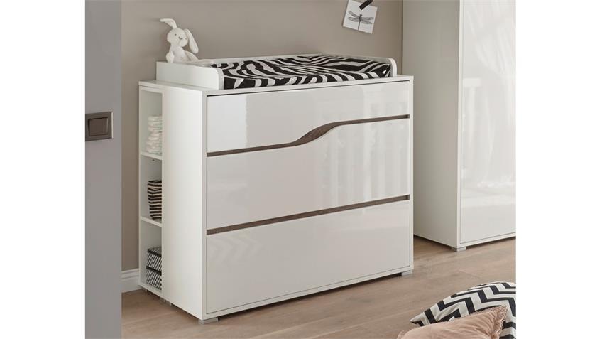 wickelkommode marra kommode mdf wei hochglanz eiche. Black Bedroom Furniture Sets. Home Design Ideas