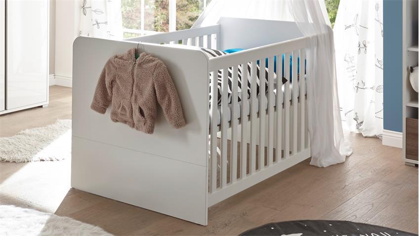 babyzimmer 1 marra 3 teilig mdf wei hochglanz eiche On babyzimmer weiß hochglanz
