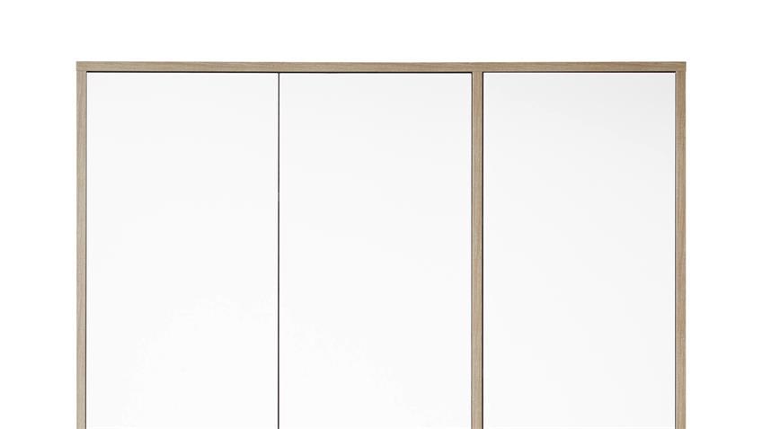 Kleiderschrank Moon Driftwood weiß 4 Böden 138 cm 3-trg.