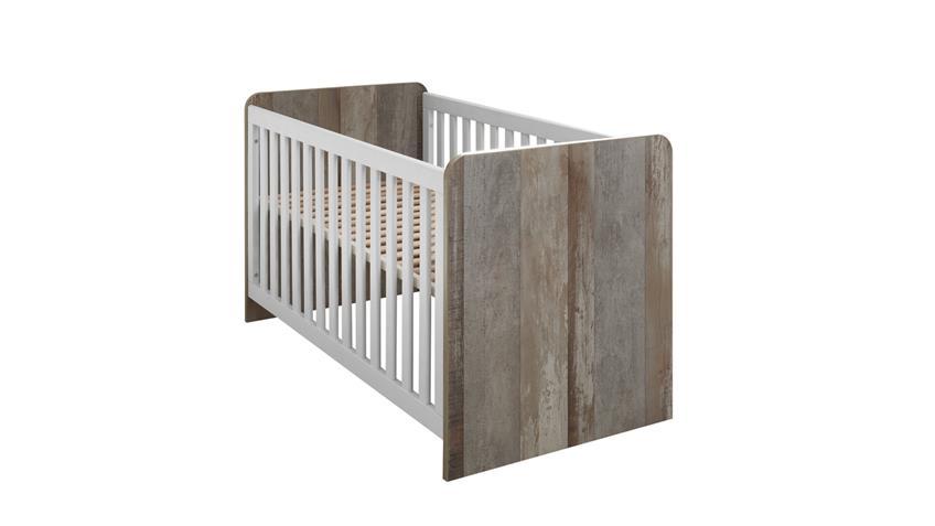 Babyzimmer MOON Kinderzimmer Komplett Set Driftwood weiß 3-teilig