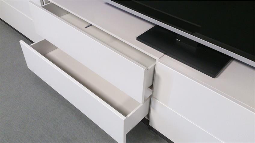 Kommode Bright TV-Board Lowboard weiß 2 Schubkästen