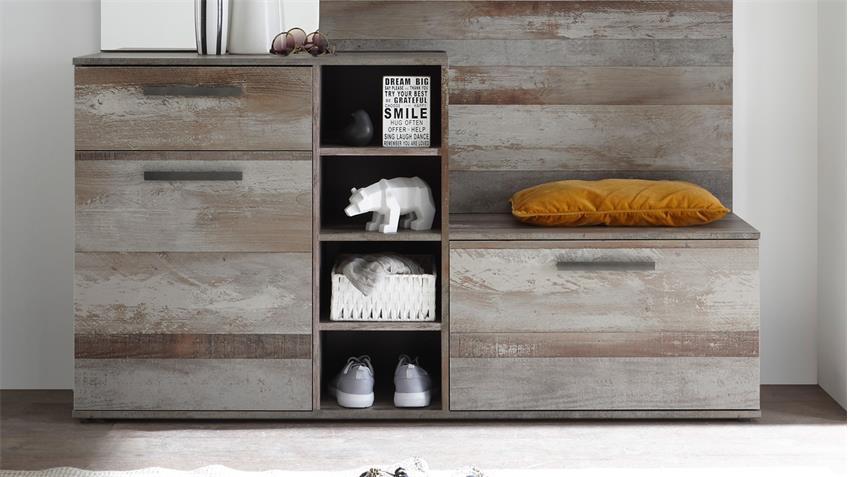 Garderobenset COMPLETE Garderobe Kompaktgarderobe Flurmöbel Driftwood