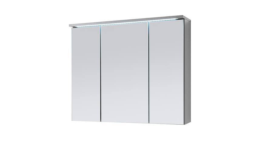 Spiegelschrank TWO Badezimmerspiegel Spiegel Titan grau LED 80x68 cm