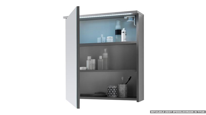 Spiegelschrank TWO Badezimmerspiegel Spiegel in weiß mit LED 60x68 cm