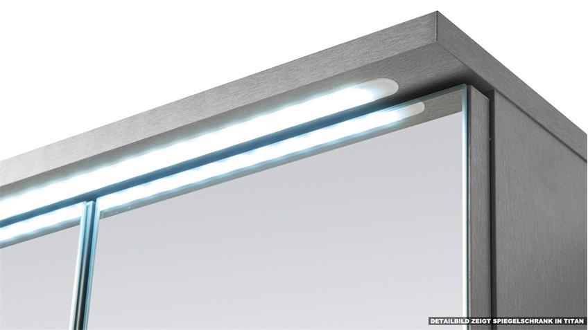 Spiegelschrank TWO Spiegel Badezimmerspiegel in weiß inkl. LED 100 cm