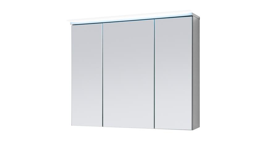 Spiegelschrank FOUR Badezimmerspiegel Spiegel Titan grau mit LED 80 cm