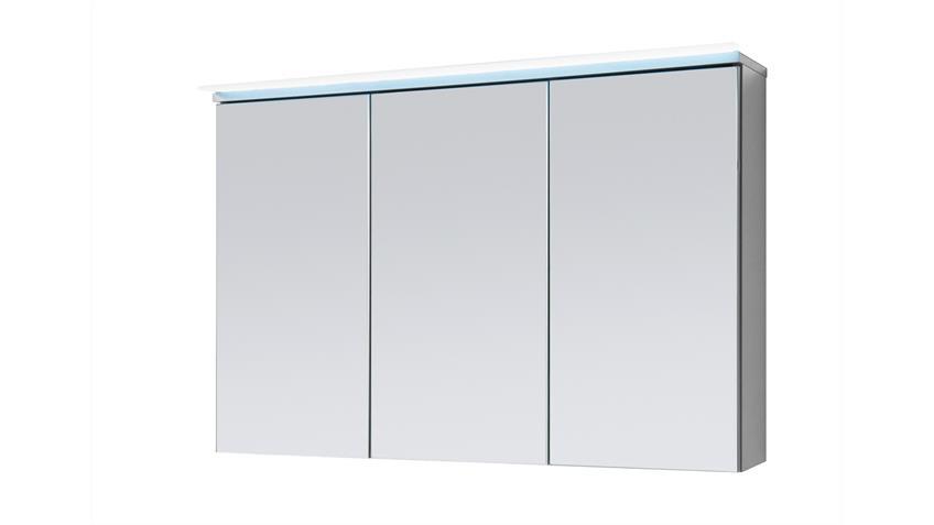 Spiegelschrank FOUR Badezimmerspiegel in Titan grau mit LED 100x23 cm