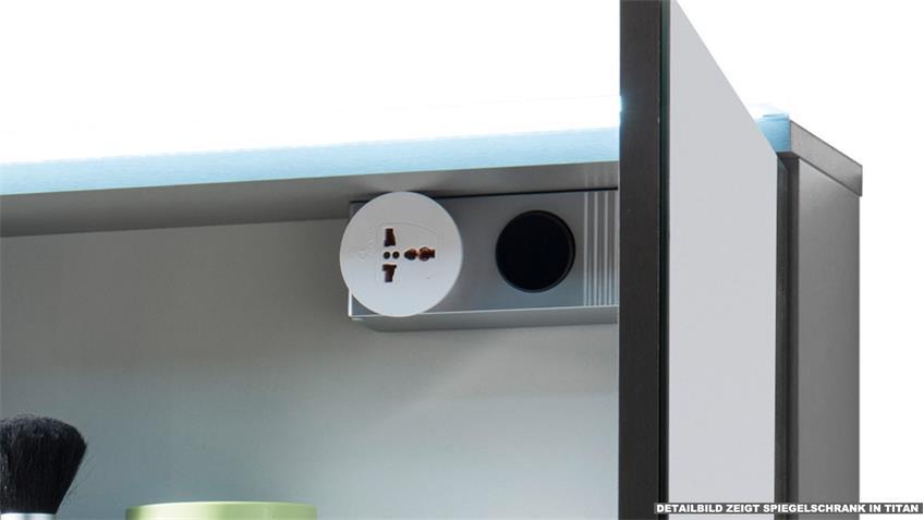 Spiegelschrank FOUR Badezimmerspiegel Spiegel in weiß inkl. LED 60x68
