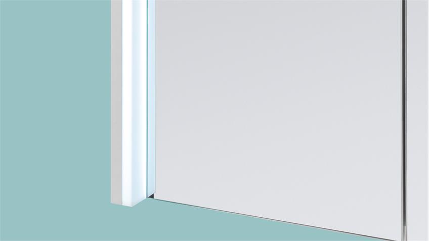Spiegelschrank FIVE Spiegel Badezimmerspiegel in weiß inkl. LED 66x68