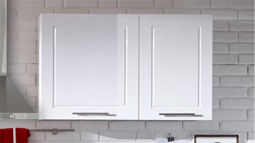 Küche WELCOME Küchenzeile rot und weiß Hochglanz Matt und Stone grau