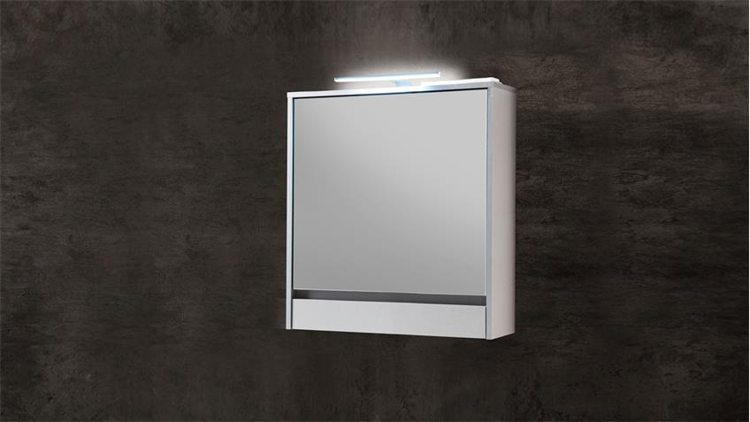 Spiegelschrank EIGHT Spiegel Badezimmerspiegel in weiß inkl. LED 60x72