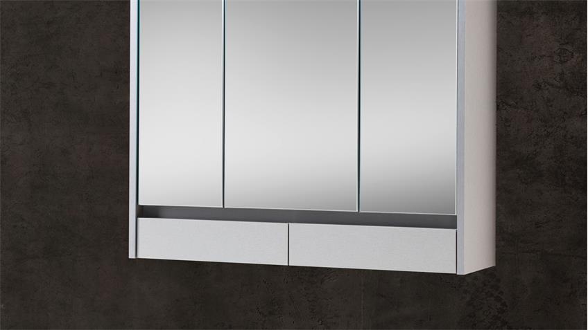Spiegelschrank EIGHT Badezimmerspiegel Spiegel in weiß inkl. LED 80x72