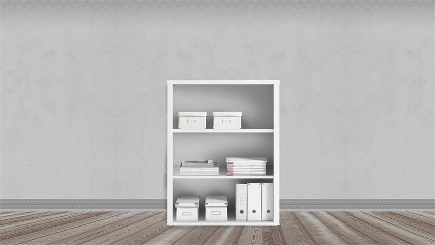 Regal FACT Bürorregal Bücherregal Aktenregal Büromöbel weiß 80x117 cm