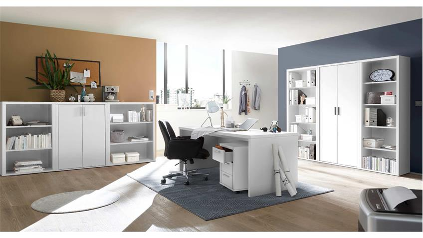 Büroschrank FACT Aktenschrank Büromöbel Schrank in weiß 80x117 cm