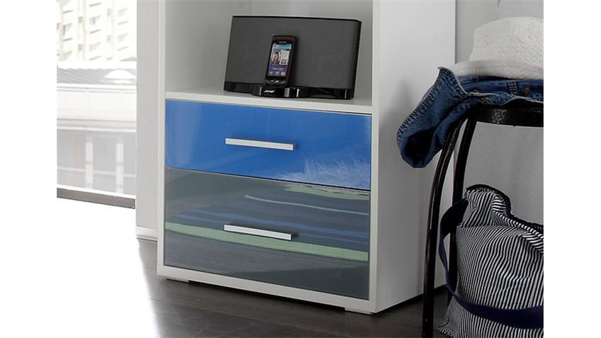 Jugendzimmer Büro Set 3-teilig weiß Schreibtisch Regal Rollcontainer