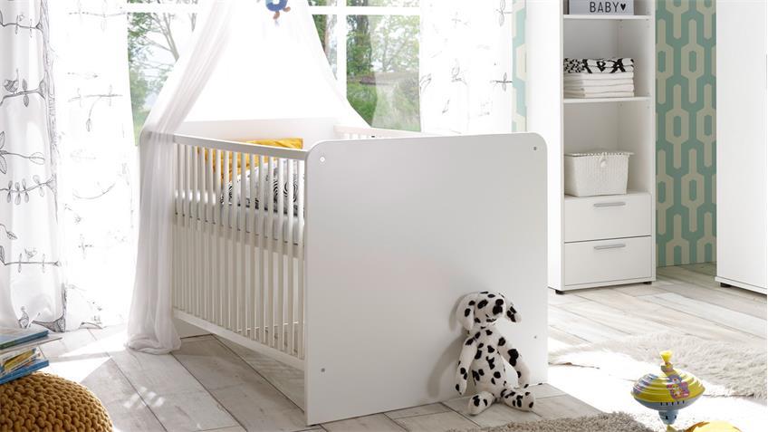 H Babyzimmer-Set Bibo 3 weiß Dekor 7-teilig