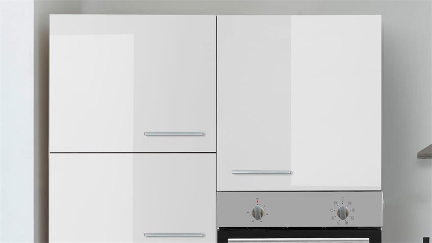 Küchenblock LAUREL weiß Hochglanz Sonoma Eiche mit E-Geräten